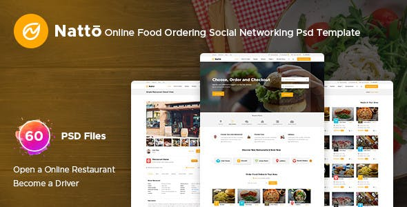 Online Food Ordering Templates from ThemeForest