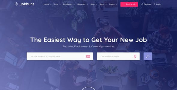 Wordpress directory themes from themeforest jobhunt job board wordpress theme for wp job manager accmission Choice Image