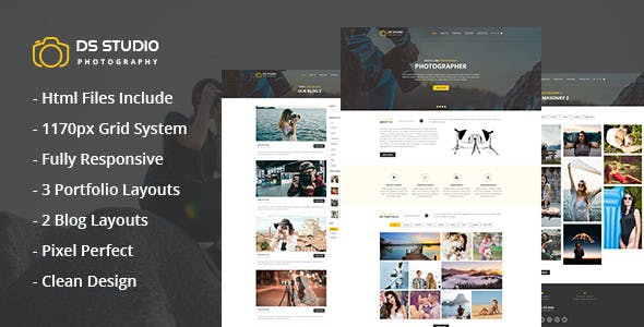 ds studio photography html template for photographers