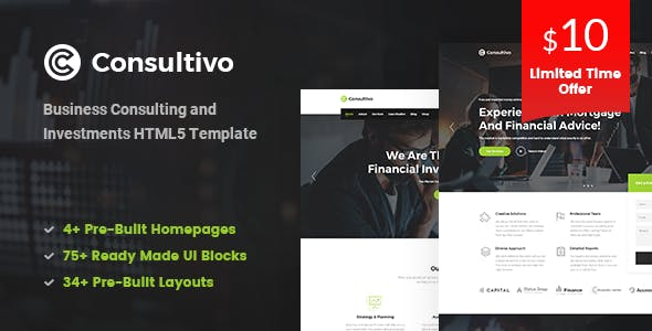 Professional corporate html website templates from themeforest consultivo business consulting and investments html5 template flashek Image collections