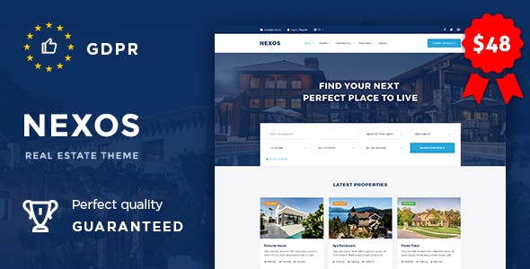 real estate website templates compatible with facebook
