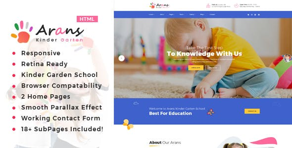 kindergarten kids html website templates from themeforest