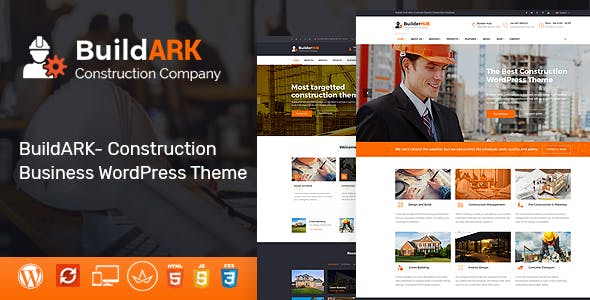 Wordpress business themes from themeforest buildark construction business wordpress theme flashek Image collections