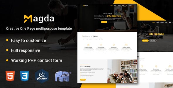 Html business website templates from themeforest magda creative one page multipurpose template accmission Gallery