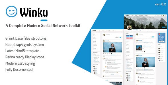 Network templates from themeforest winku social network toolkit responsive template maxwellsz