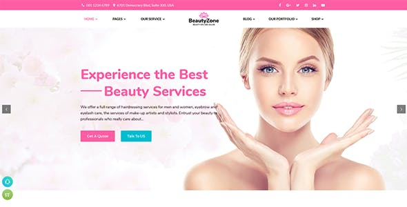 cosmetic html website templates from themeforest