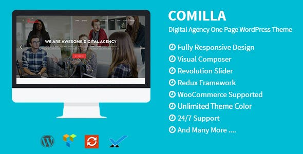 Comilla - Digital Agency One Page WordPress Theme by theme_ocean