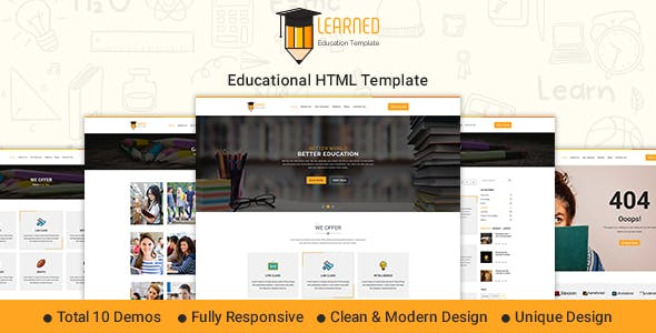 Institute And Student HTML Website Templates From ThemeForest