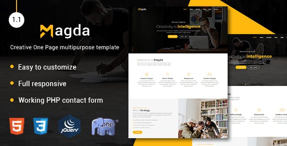 Html business website templates from themeforest magda creative one page multipurpose template wajeb Image collections