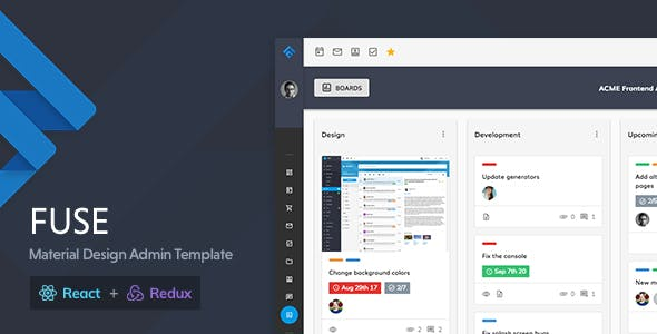 Fuse - React Redux Material Design Admin Template by withinpixels