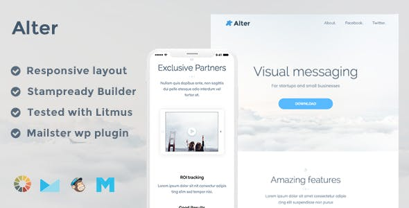 Responsive Email Template Templates from ThemeForest