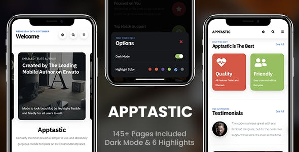 mobile design templates from themeforest
