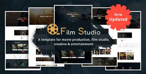 Creative html video website templates from themeforest film studio movie production film studio creative entertainment html template maxwellsz
