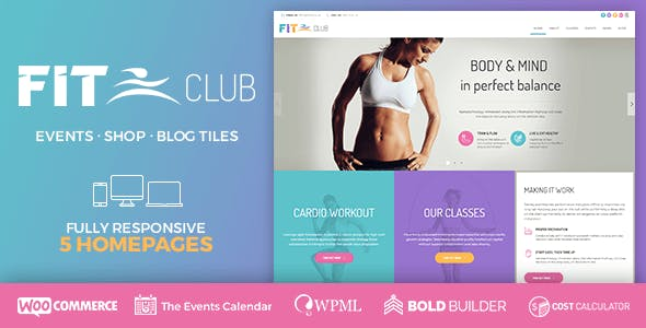 Personal Training Website Templates from ThemeForest