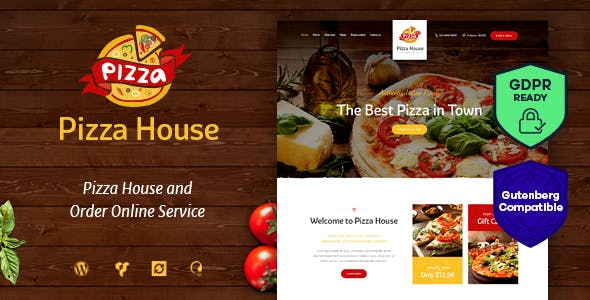pizza woocommerce website templates from themeforest