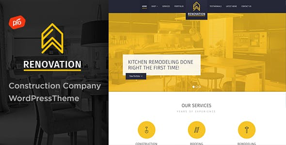 construction company website templates from themeforest