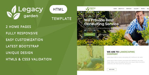 Lawn Services Templates from ThemeForest