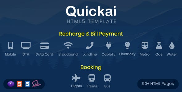 bill payment website templates from themeforest