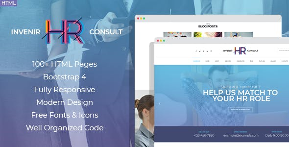 human resources templates from themeforest