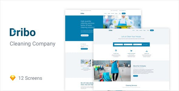 Cleaning business templates from themeforest dribo cleaning company sketch template accmission Choice Image