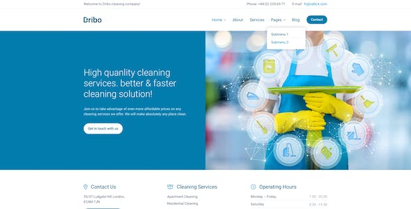 Cleaning business templates from themeforest dribo cleaning company sketch template dribo cleaning company sketch template cheaphphosting Choice Image