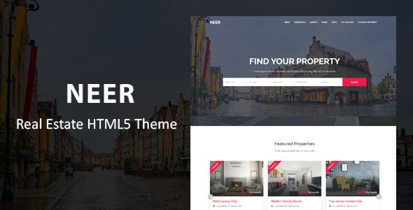 neer real estate html template by themevessel themeforest