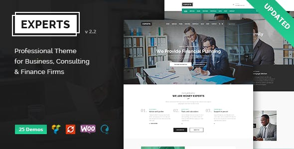 Finance Experts - Finance Business & Consulting WordPress Theme