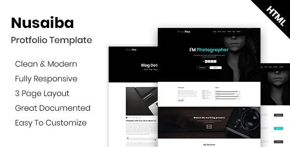 nusaiba photography portfolio html template