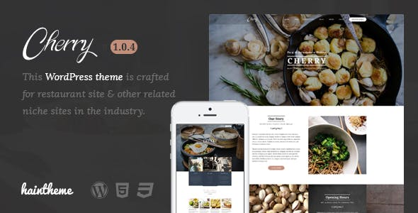 cherry framework website template from themeforest