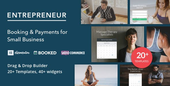 Small business website templates from themeforest entrepreneur booking for small businesses wajeb Choice Image