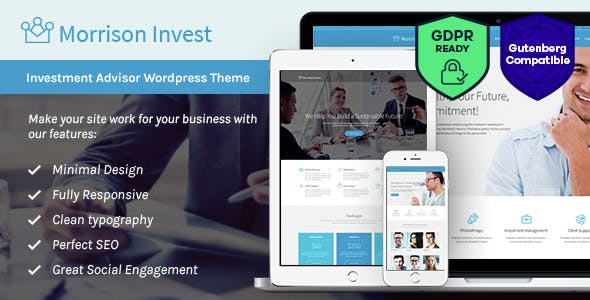 Investments, Business & Financial Advisor WordPress Theme