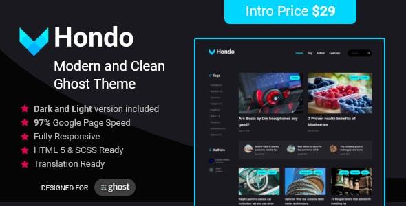 Hondo Multipurpose Ghost Blog
