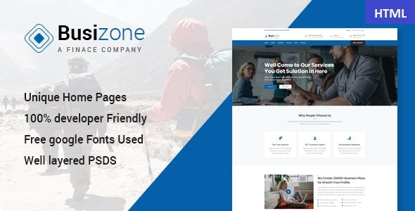 Bootstrap professional corporate html website templates busizone creative multipurpose html template flashek Images