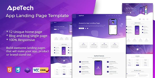 apetech app landing page