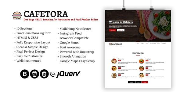 HTML Restaurant Website Templates from ThemeForest
