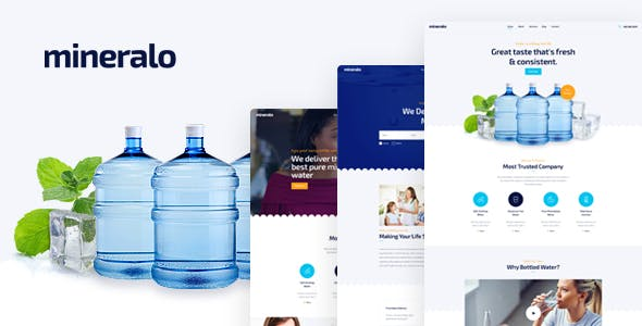 Filter templates from themeforest mineralo bottled water delivery service for home office psd template maxwellsz
