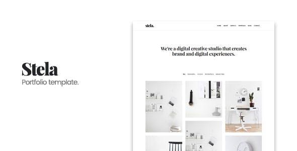 Contact form templates from themeforest stela minimal portfolio html template maxwellsz