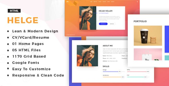 Specialist html web page templates from themeforest helge vcard cv resume portfolio maxwellsz