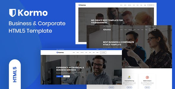 Professional corporate html website templates from themeforest kormo multipurpose business corporate html5 template accmission Image collections
