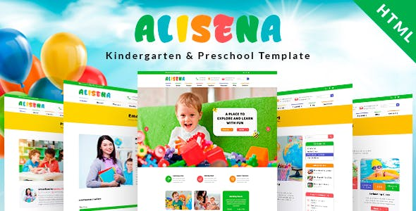 kids html website templates from themeforest