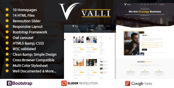 Html business website templates from themeforest valli corporate and business one page responsive html template wajeb Gallery