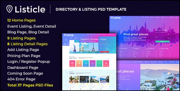 Business listing templates from themeforest listicle directory listing psd template cheaphphosting Choice Image