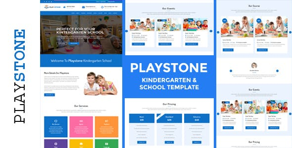 Html business website templates from themeforest playstone kindergarten school html template friedricerecipe Image collections
