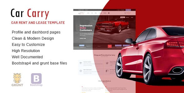 rent a car templates from themeforest