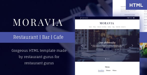 moravia multi page all in one restaurant cafe html template
