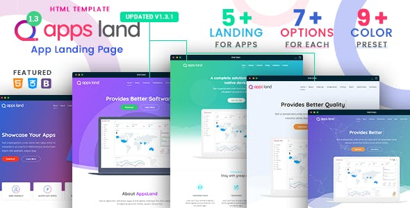 2019's Best Selling App Landing Page Templates