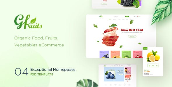 fruits and vegetables templates from themeforest