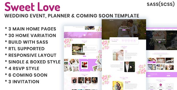 Lavender Wedding Event Planner Coming Soon Html Template