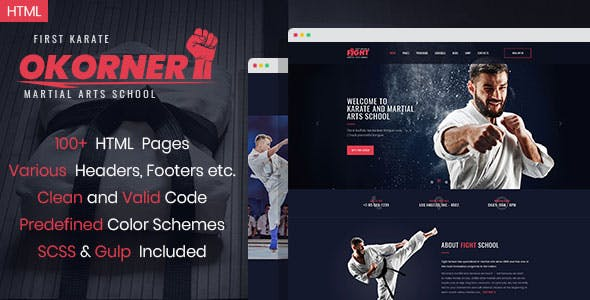 Martial Arts Templates From ThemeForest