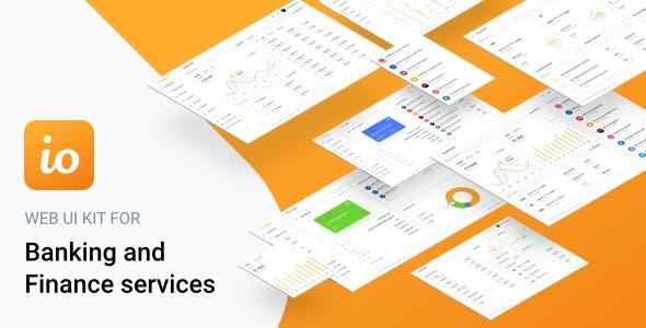 iofinance ui kit for finance banking and wallet websites